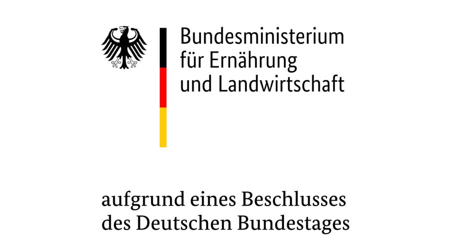 Logo des Bundesministerium für Ernährung und Landwirtschaft und des Projektträgers Bundesanstalt für Landwirtschaft und Ernährung
